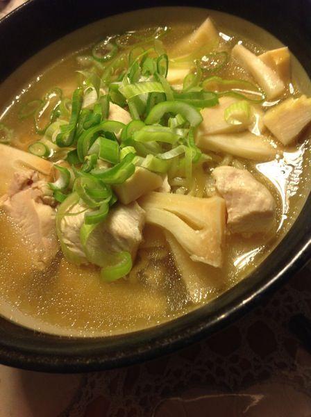 竹の子と鶏のさっぱりラーメン
