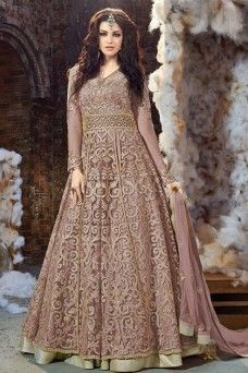 9d22b06da6 Blush Pink Heavy Embroidery with Diamond Work Traditional Party Wear Indian  Designer Fancy Designer Net Fabric Anarkali #anarkali #fancysalwarsuits ...