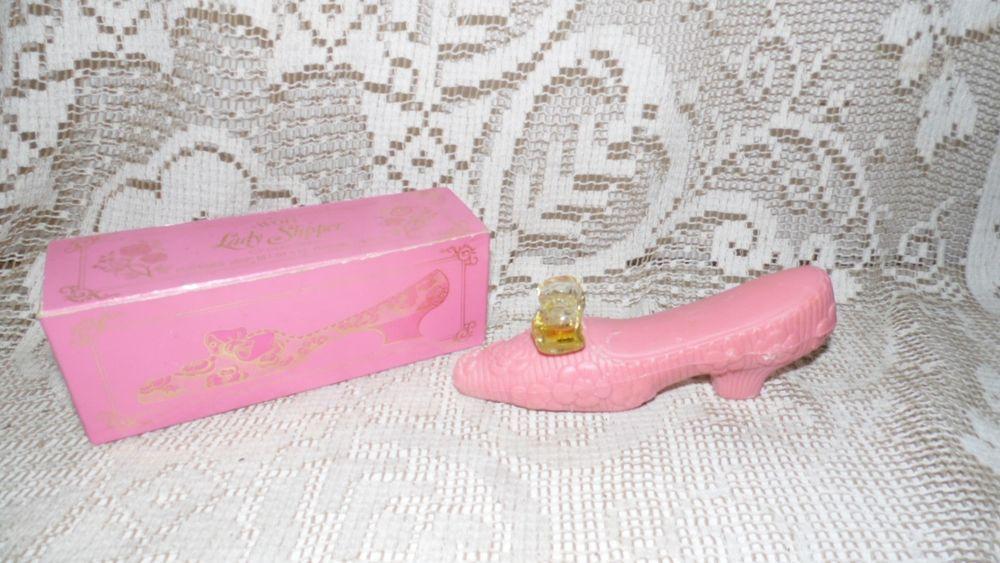AVON VINTAGE SLIPPER SHOE PERFUMED SOAP AND PERFUME  CHARISMA  NIB
