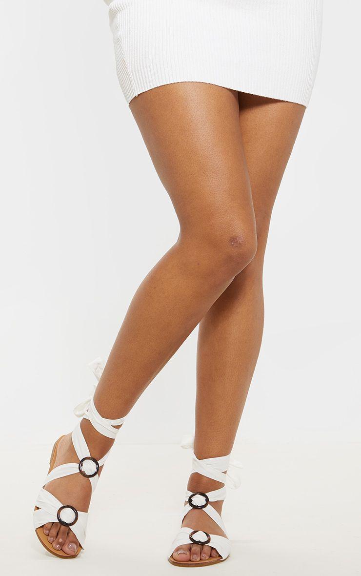 White Tortoise Ghillie Lace Up Sandal
