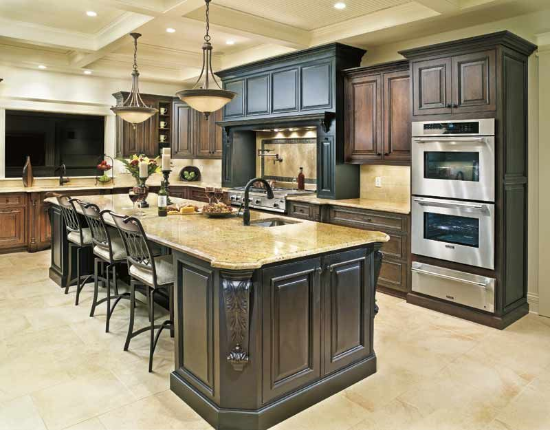 Love The Dark Cabinets And The Island!