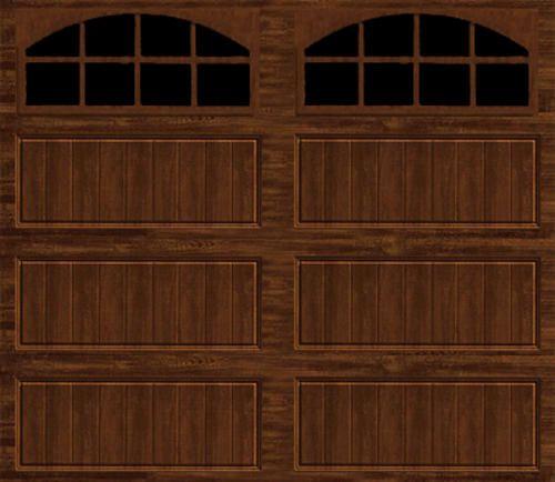 9 Ft X 8 Ft Walnut Insul Long Pnl Mr2lu Arch2 Garage Door Garage Doors Garage Door Insulation Garage