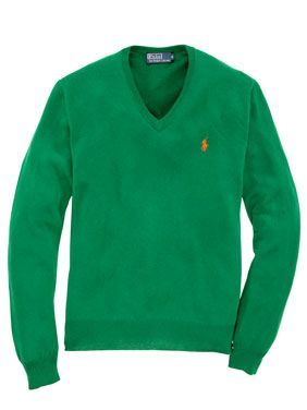 Polo Ralph Lauren V Neck Pullover Gruen Pullover Grüner Pullover Männer Jacken