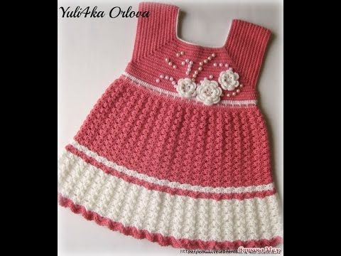 Crochet Patterns For Free Crochet Baby Dress 1491 Tejidos