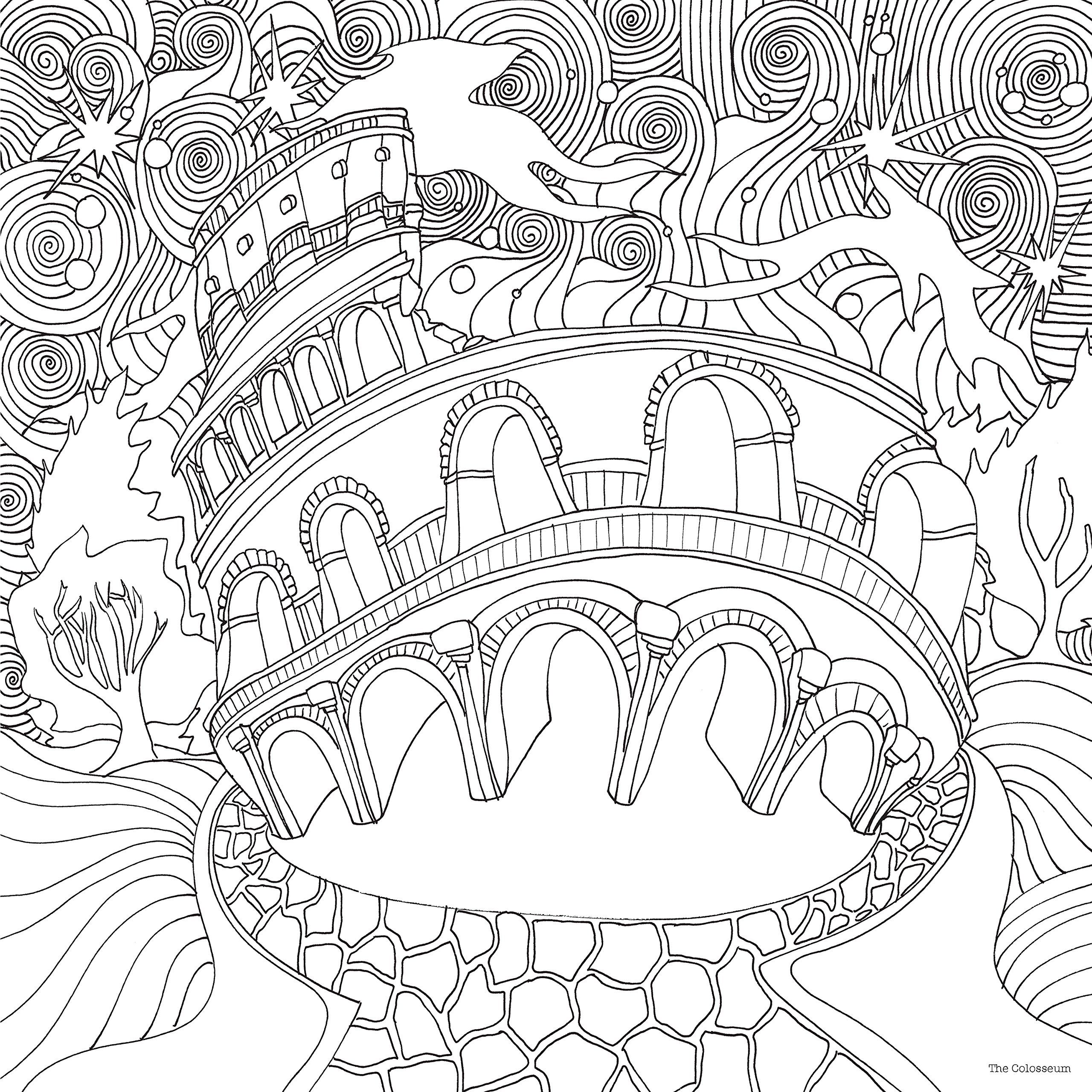 Co coloring book page template - The Magical City Magical Colouring Books For Adults Amazon Co Uk