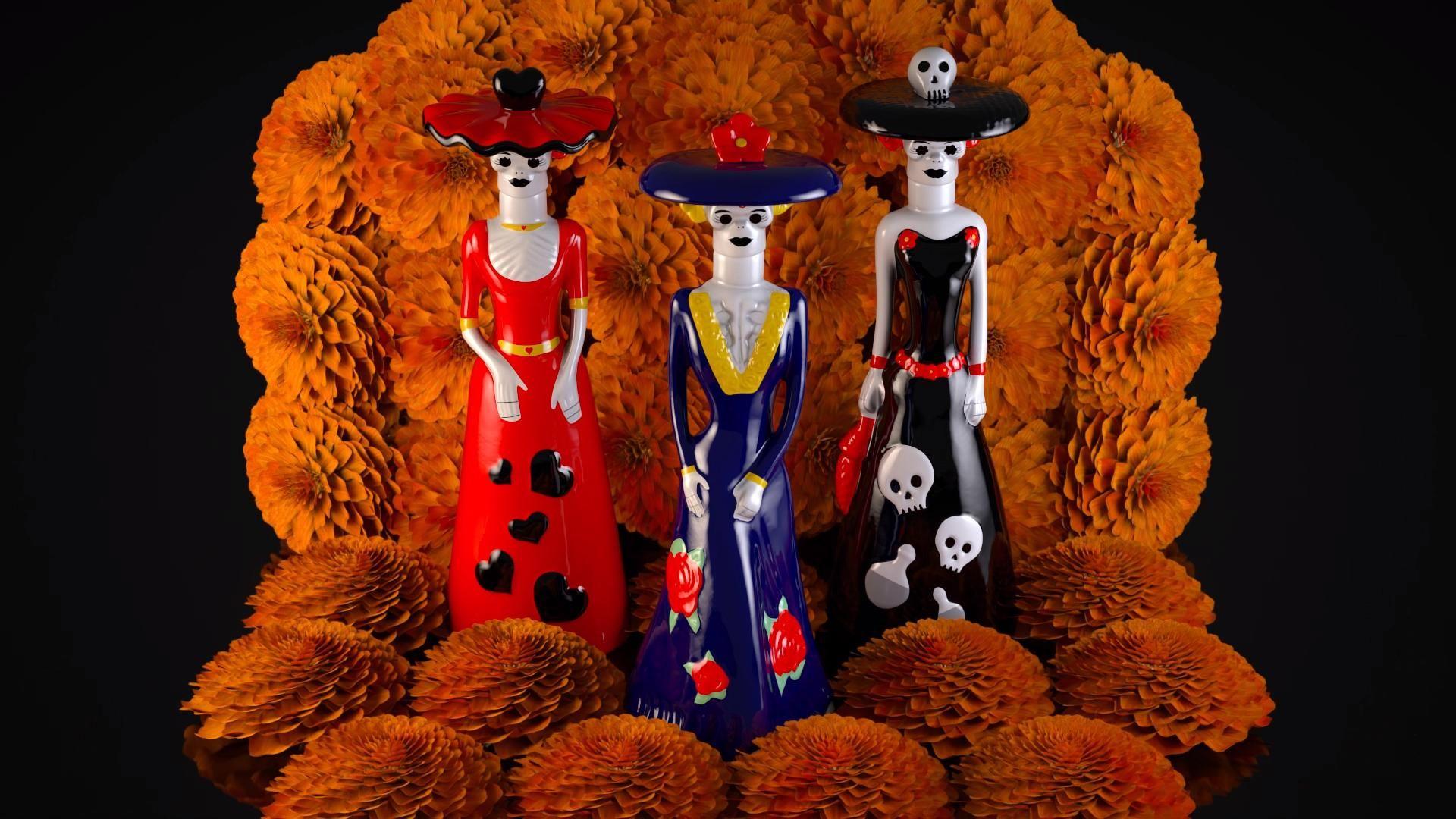 Dona Celia Tequila Video In 2020 Day Of The Dead Diy Sugar Skull Illustration Tequila