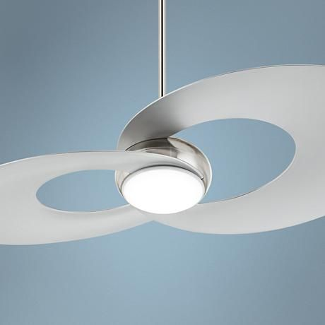 52 Quot Innovation Brushed Nickel Led Ceiling Fan Ceiling