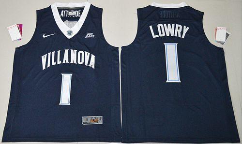 Villanova Wildcats  1 Kyle Lowry Navy Blue Basketball Stitched NCAA Jersey 8289ac9e0