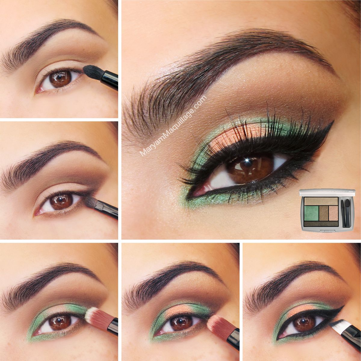 For fashionably fabulous eyes try maryams tutorial using the peach and green eye makeup tutorial for brown eyes beauty betsi got hazel green eyes im thinking this would work great too baditri Choice Image