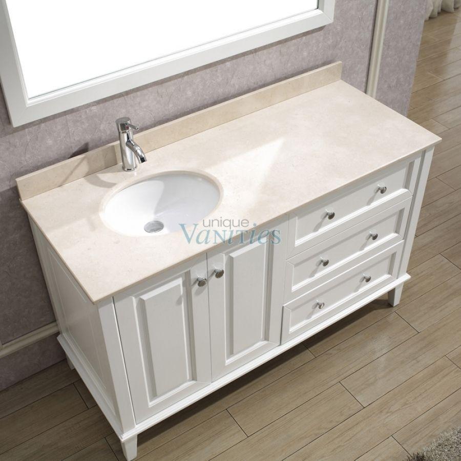 left side sink bathroom vanity