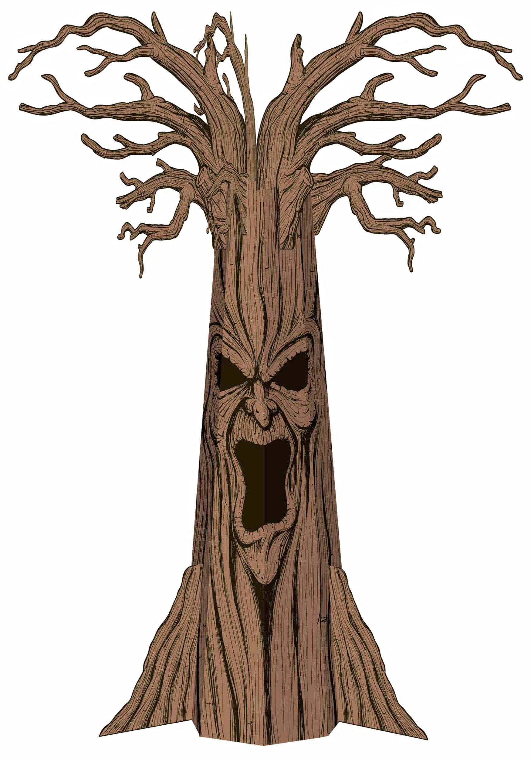 Spooky halloween tree decoration - Haunted Tree Decoration