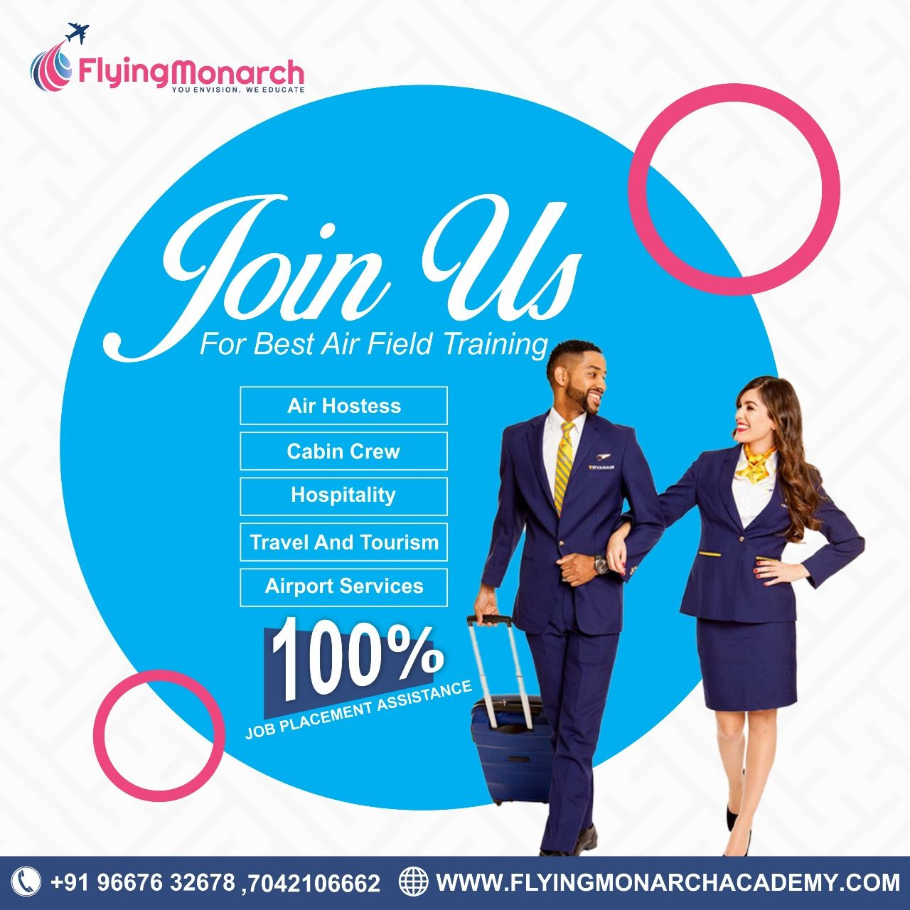 To an Air Hostess Join FlyingMonarch Diploma