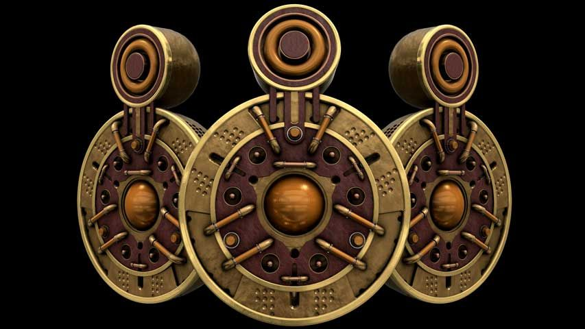 Free Loudspeakers VJ Loop of the Steampunk Vision II Pack