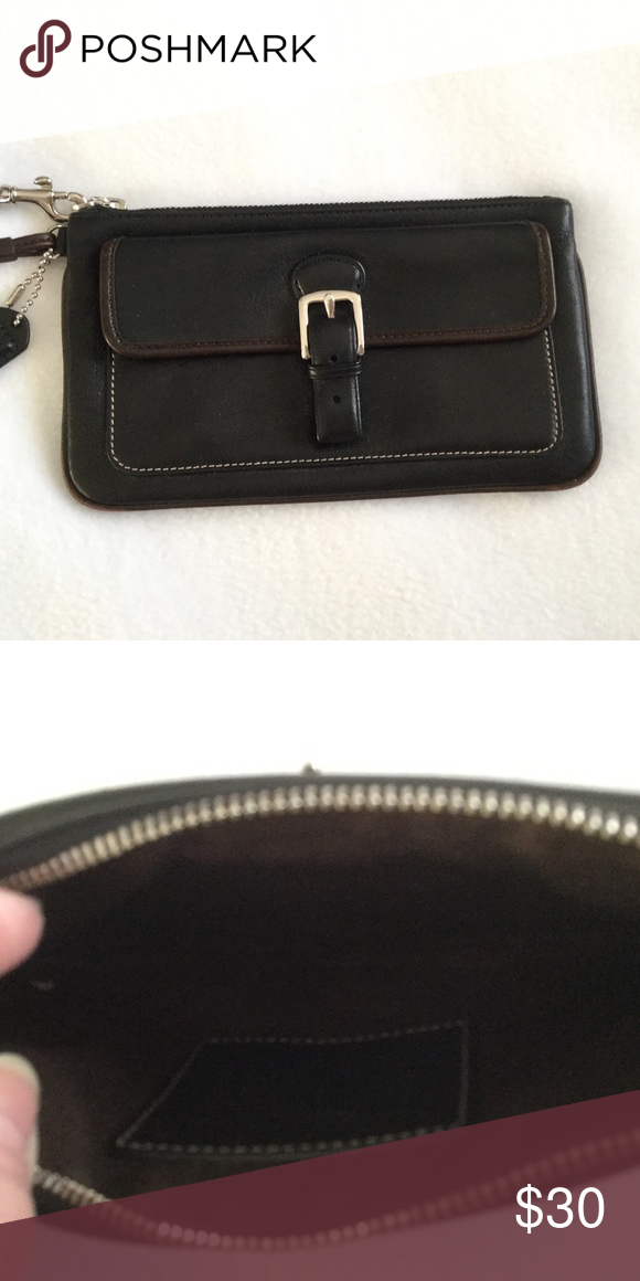 0ade33fca0a5 ... new arrivals coach wristlet outside snap pocket..coach tag cute coach  wristlet black leather