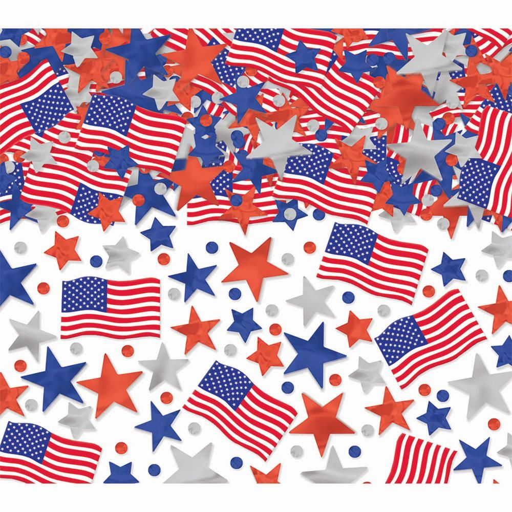Amscan Star & Flag Confetti (3Pack)369170 The Home
