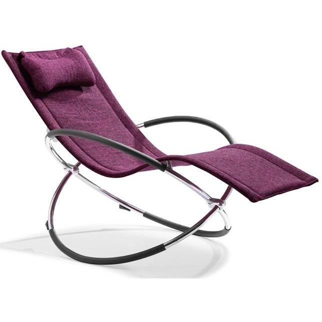 Zuo Modern Flamenco Lounge Chair Purple 501137
