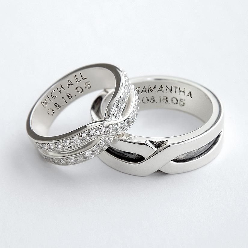 93897ecfef4 Couples rings - Based on the ancient belief that a vein in the fourth  finger connects directly to the heart