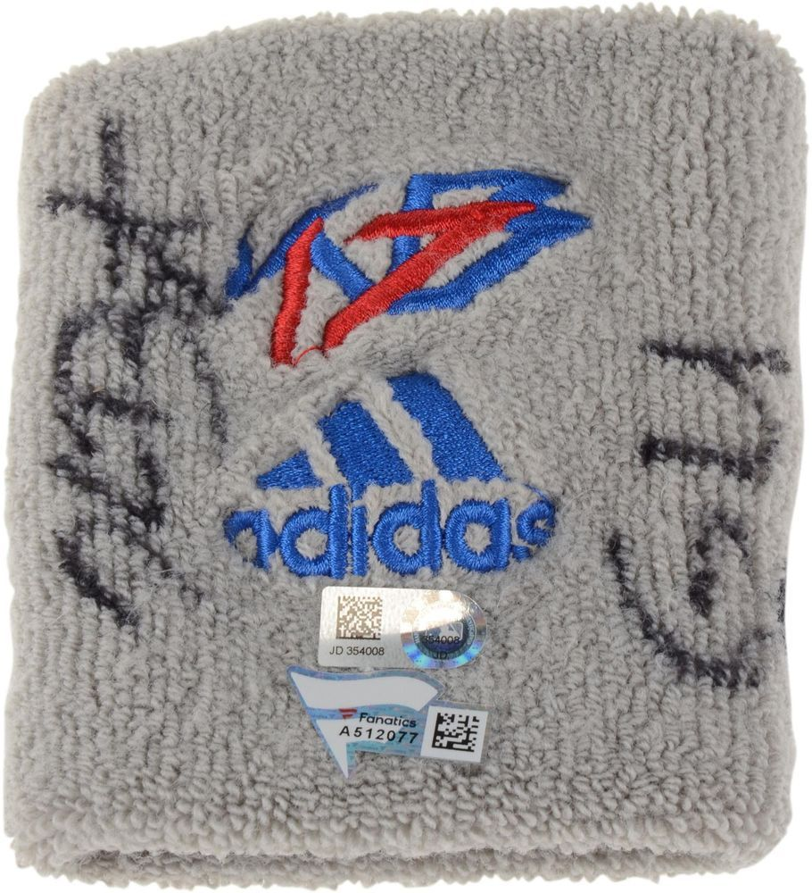 Kris Bryant Chicago Cubs Autographed Game-Used Gray Wristband from  Item 8985125  sportsmemorabilia 8e09740a4
