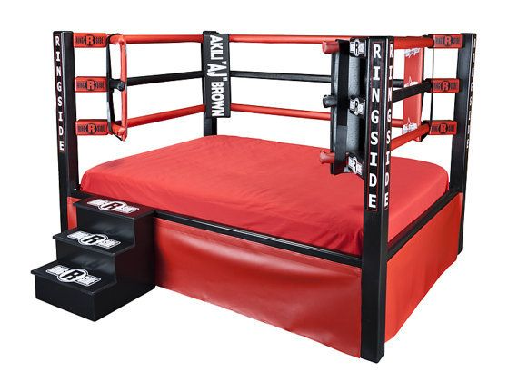 Boxing Ring Bed Twin Full Queen King Sports Themed Furniture