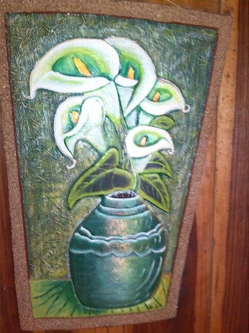 Calas talladas en madera por Olga Chaves