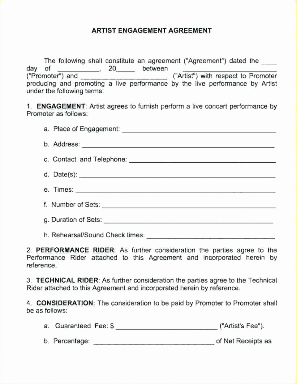 Wedding Band Contract Template New Technical Rider Template Band
