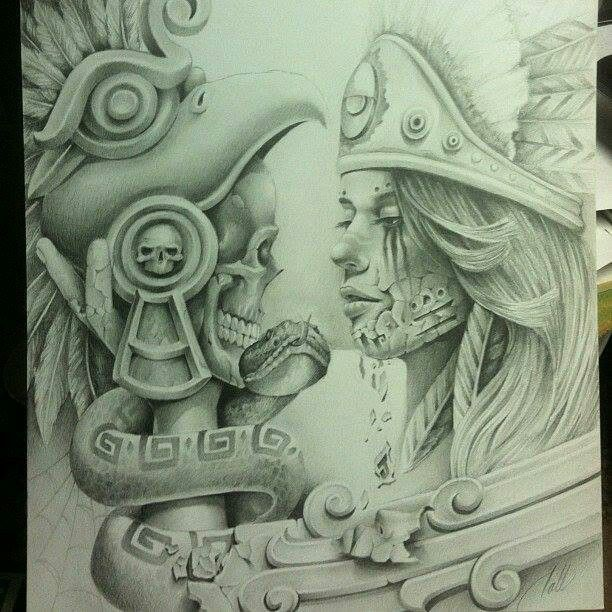 more tattooideas arte aztec chicano art tattoos tattoo design ...