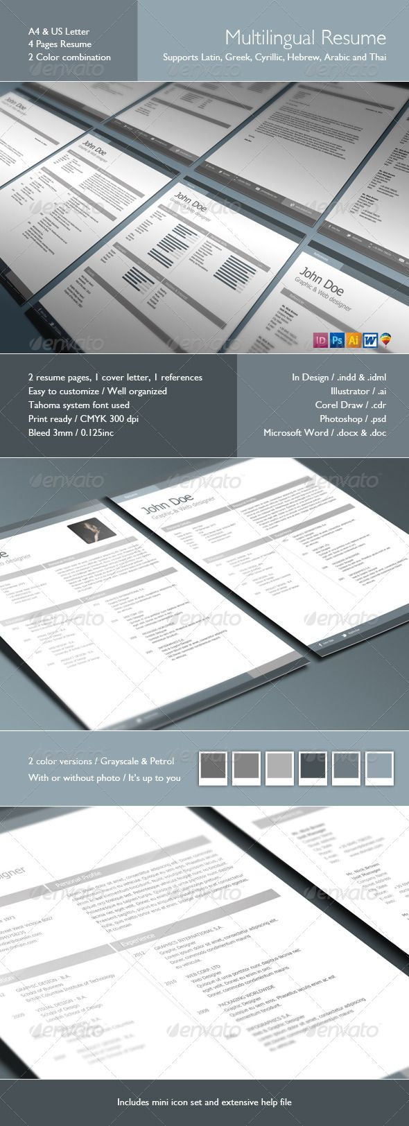 References Page Resume Multilingual Resume  Pinterest  Simple Resume Template Cv Resume .