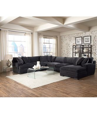 teddy fabric sectional living room furniture collection - living