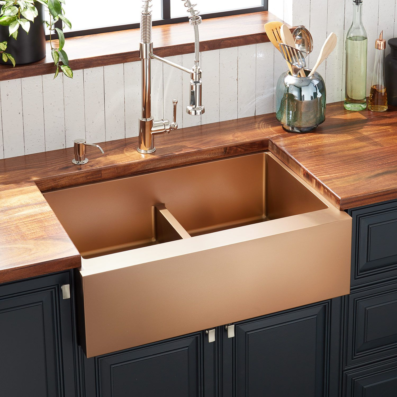 gold farmhouse sink strainer