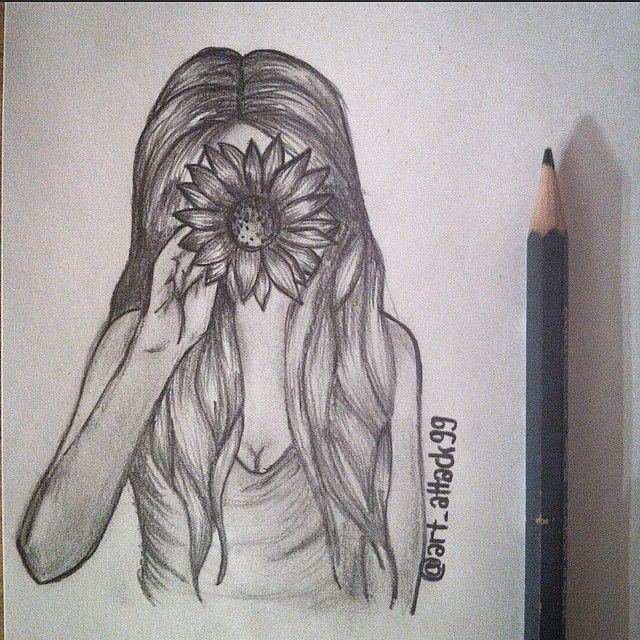 #girl #flower #pencil #bnw #quick #sketch #sunflower #spring #face #hair #drawing #draw #drawings #art #artpage #fun #sunday #march #artattack