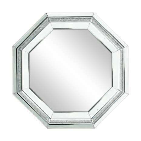 octagon bathroom mirror silver sparkle boarder octagonal mirror from dunelm 13837