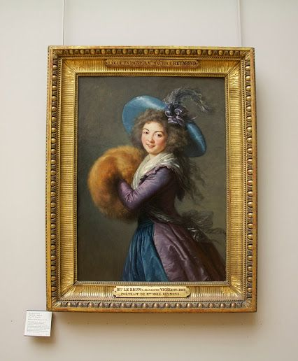 Elisabeth-Louise Vigee-Le Brun at the Louvre -  actress Madame Mole-Reymond, painted in 1786. #ArtAndDesign - Google+