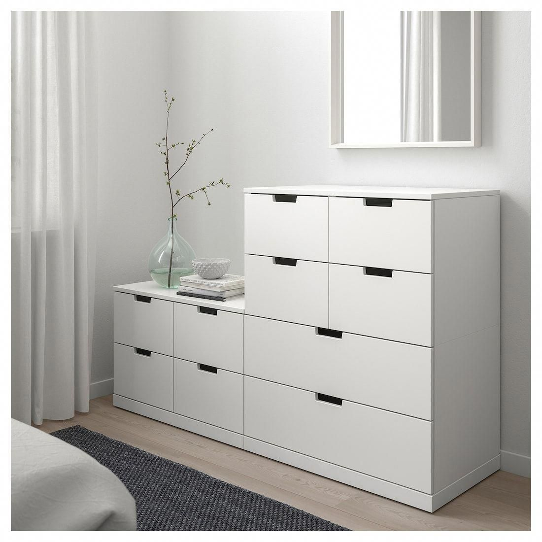 Nordli 10 Drawer Chest White 63x39 With Images White Chests Home Ikea Nordli