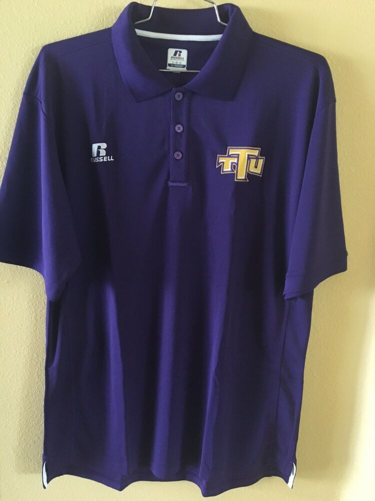 72ae56c05 Large Purple White Russell Athletic TTC Polo Shirt Dri Fit Power # RussellAthletic #PoloRugby