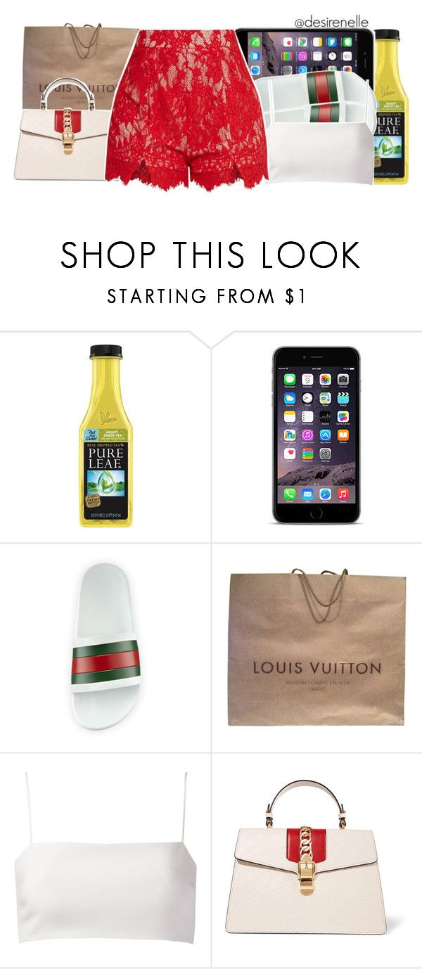 """""""Rain On Me x Ashanti"""" by desirenelle ❤ liked on Polyvore featuring Gucci, Louis Vuitton and Giuliana Romanno"""