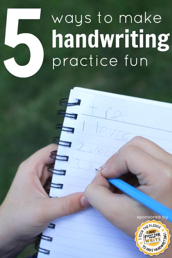 5 Ways to Make Handwriting Fun | Kinderzimmer