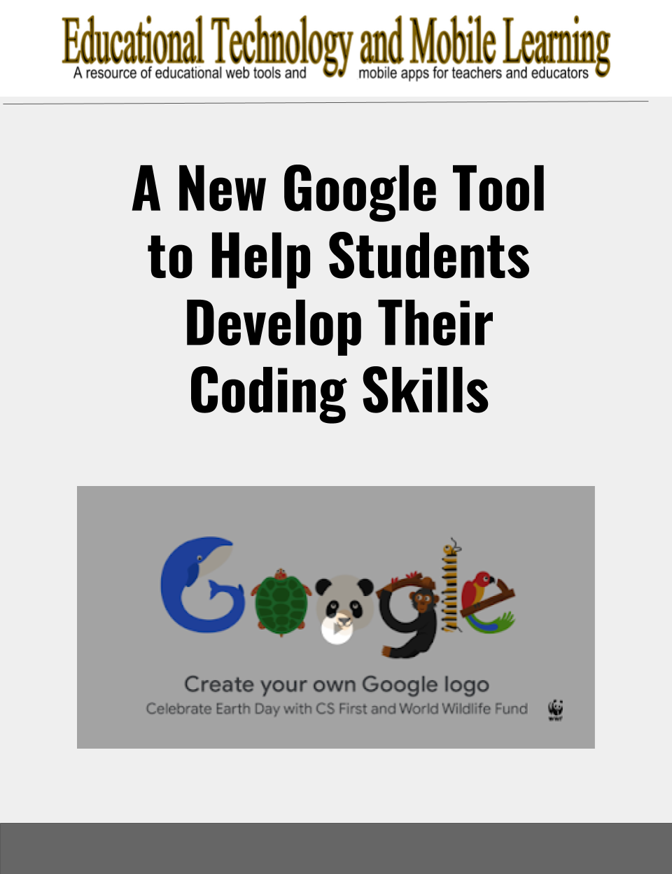 A New Google Tool To Help Students Develop Their Coding Skills