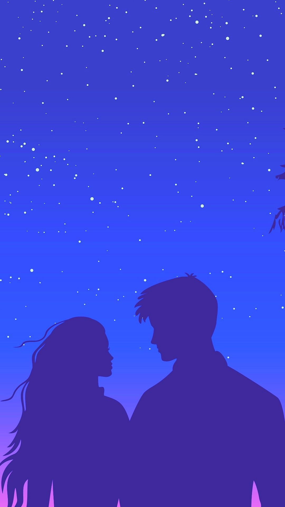 Couples Silhouette Love Hd Wallpapers 1080x1920 Cute Mobile Wallpapers Couple Silhouette Wallpaper Iphone Love