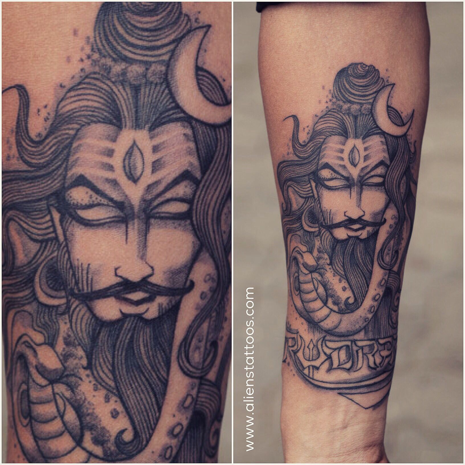 Beautiful illustration of Lord Shiva, tattoo by Sunny ...