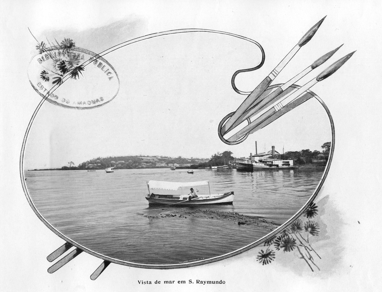 Vista do Igarapé de São Raimundo - Imagem que compõem o acervo do Álbum do Amazonas referente aos anos de 1901 e 1902.