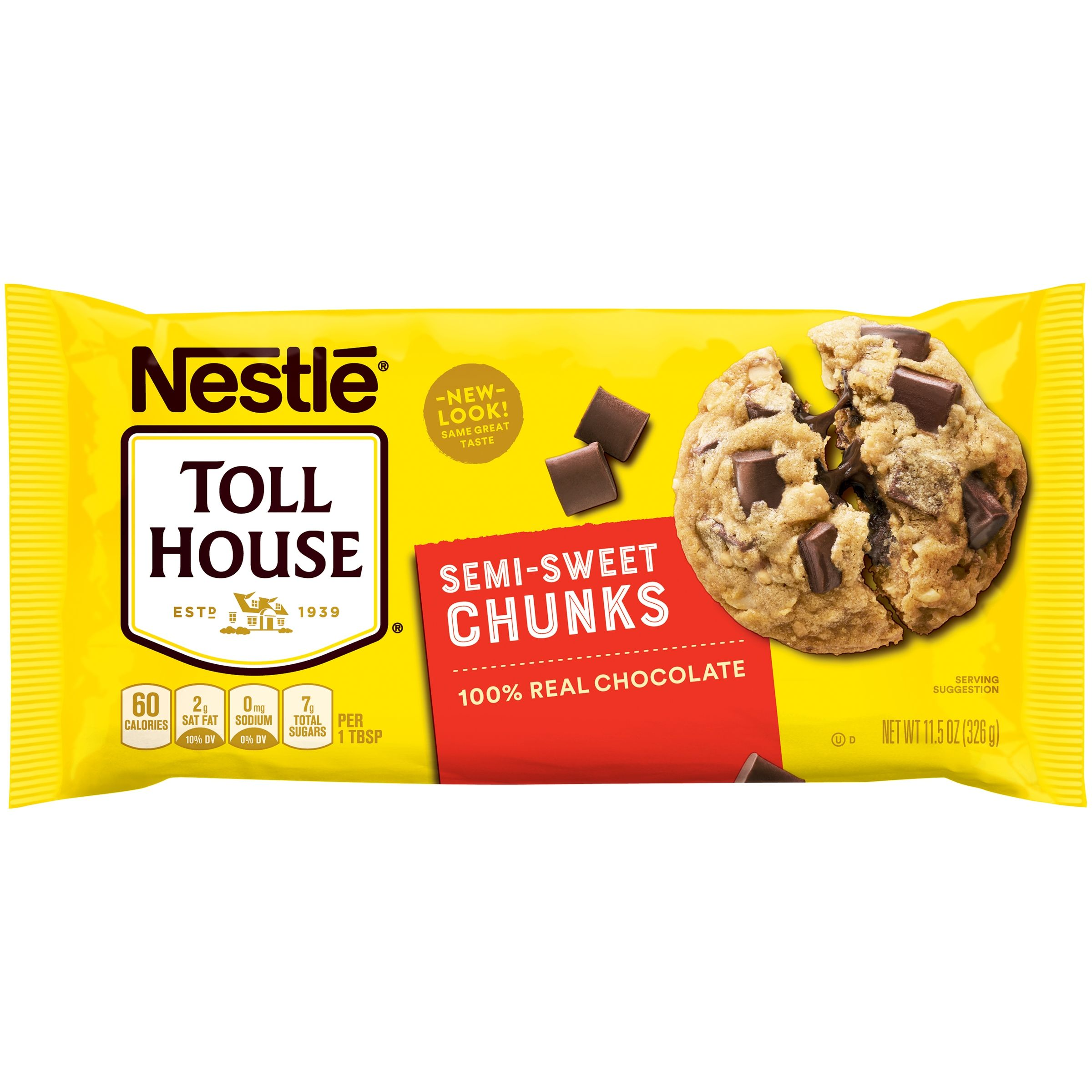 Nestle Toll House Semi Sweet Chocolate Chunks 11 5 Oz Walmart Com Toll House Chocolate Chip Nestle Toll House Toll House