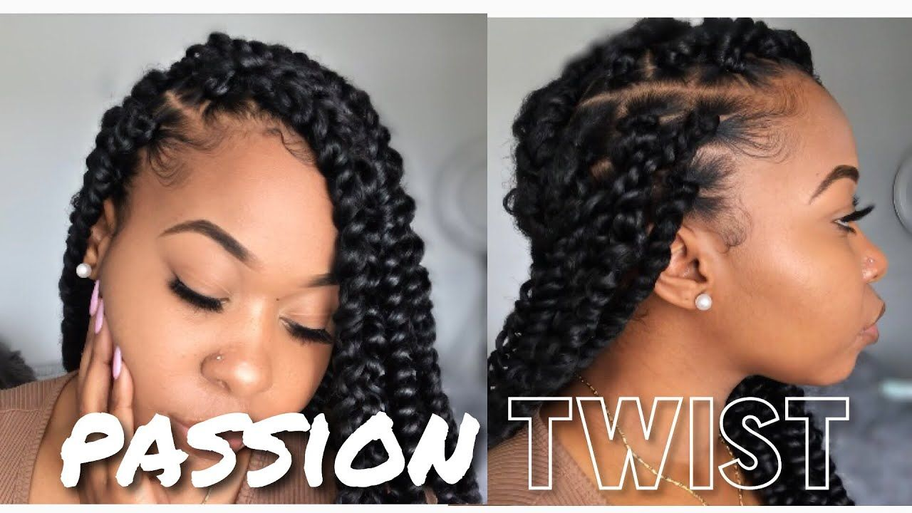 How To: Easy PASSION Twist Using Rubber Band Method | Step-by-step | Beginner Friendly | Kinzey Rae - YouTube #passiontwistshairstyle