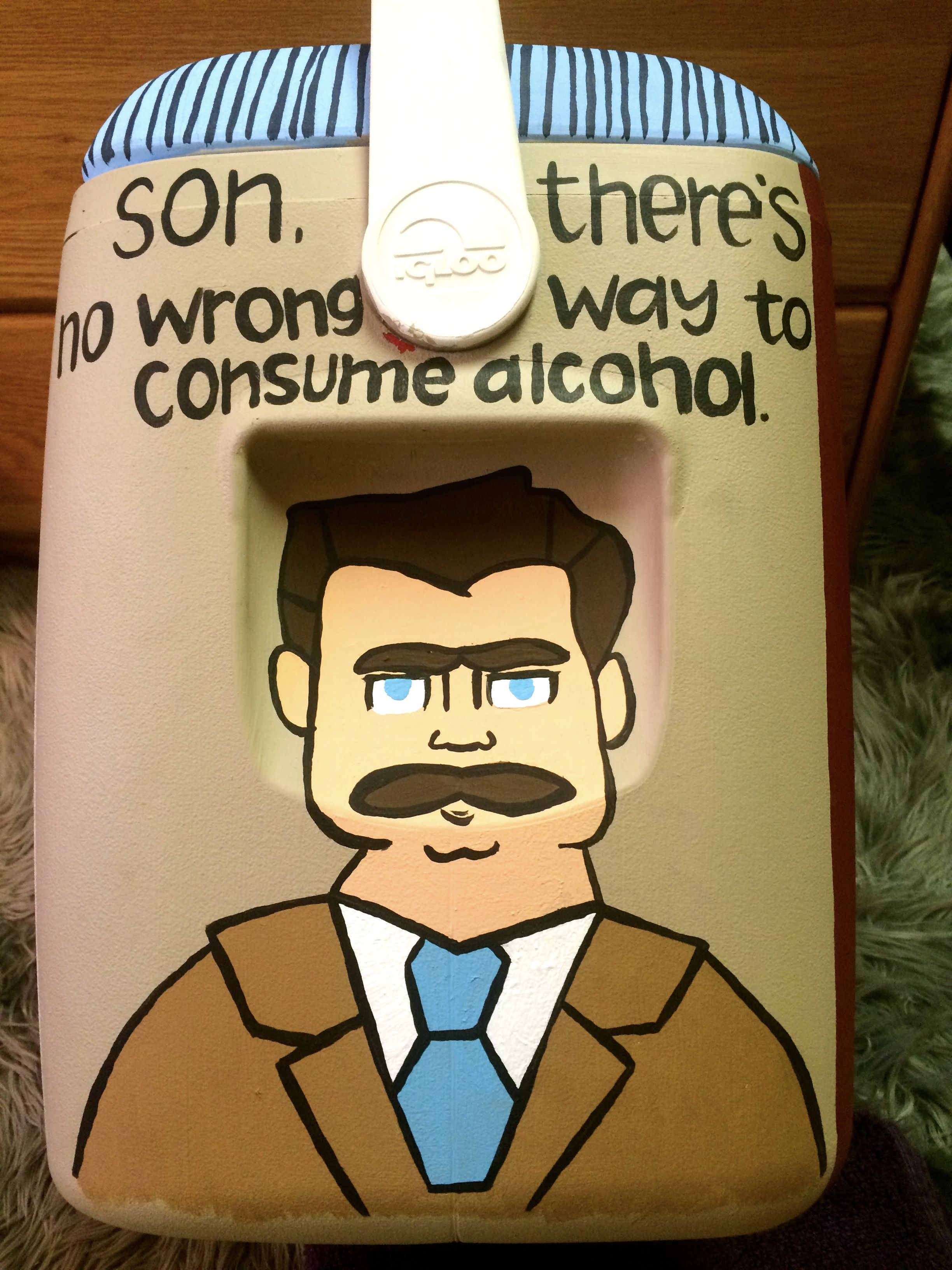 Ron Swanson // Parks and Recreation // Cooler
