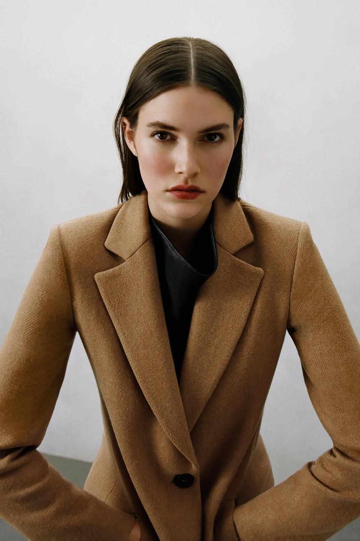 Wool Blend Coat Zara United States Wool Blend Coat Outerwear Women Coat [ 1500 x 1000 Pixel ]