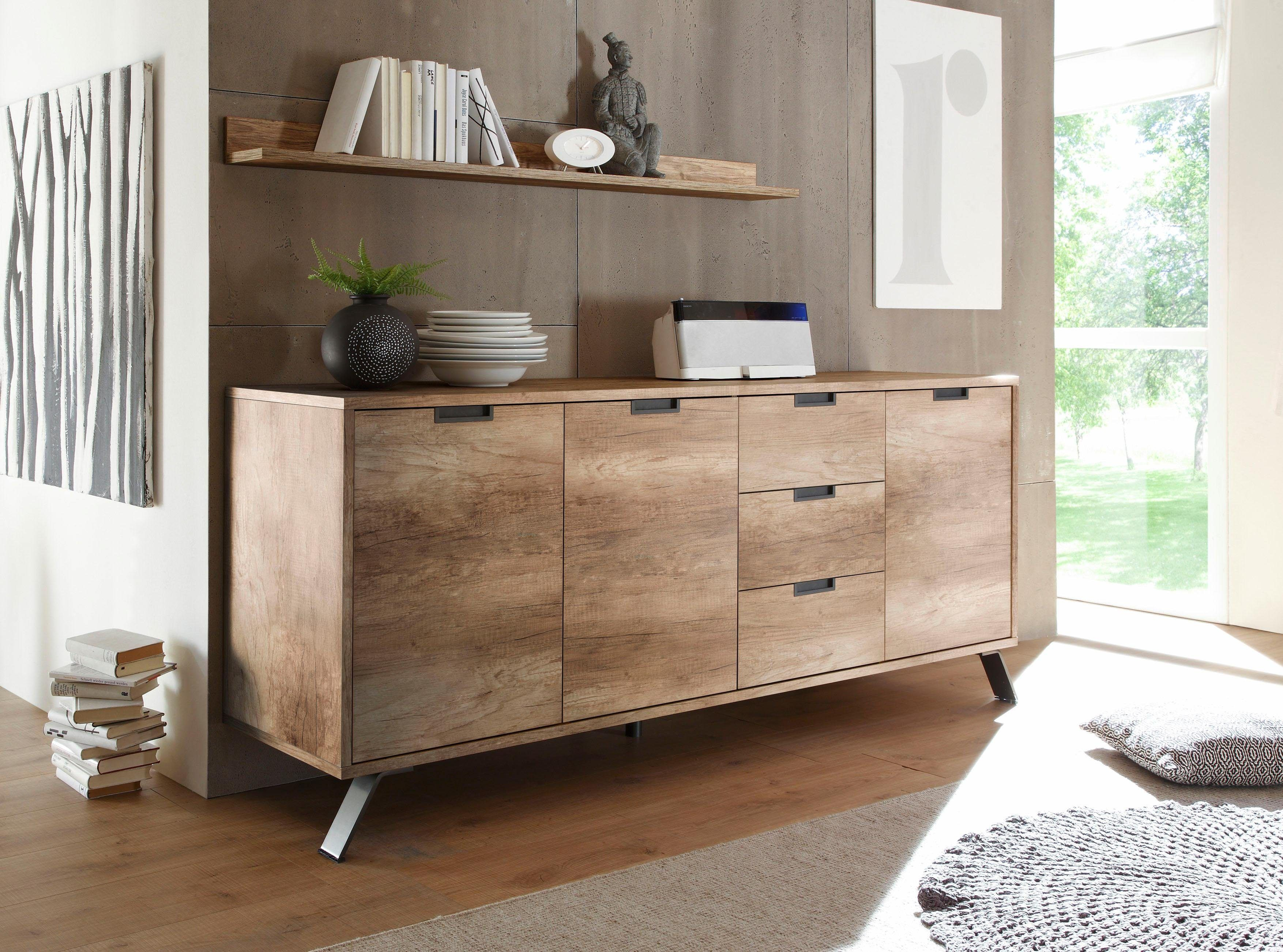 Highboard Wohnzimmer ~ Lc sideboard beige »palma« mit schubkästen fsc® zertifiziert