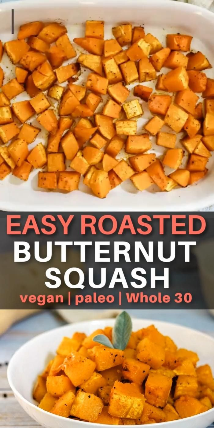 Healthy and easy roasted butternut squash recipe [