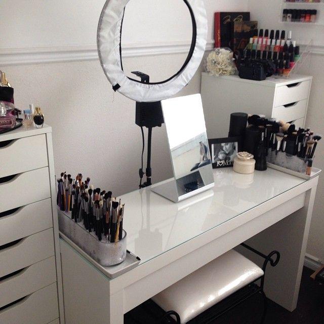 Makeup Organizer Dressing Table Sala De Belleza Decoracion De