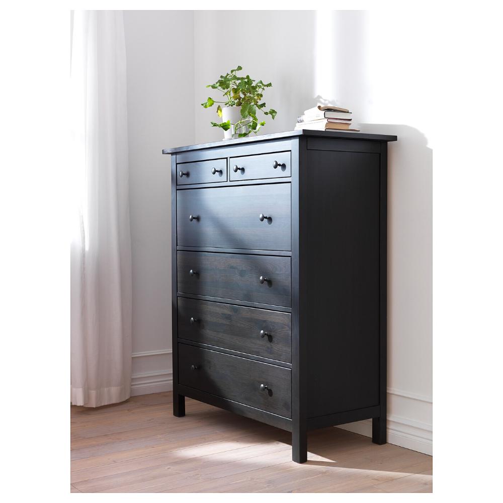 "HEMNES 6drawer chest, blackbrown, 42 1/2x51 5/8"" IKEA"