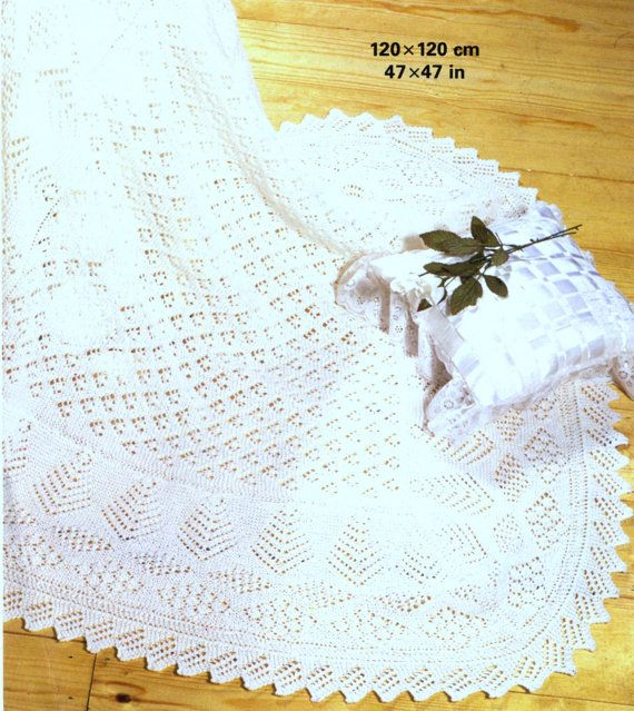 9f24fb3cf4a8 Vintage knitting pattern for baby shawl Requires 3 ply or 4 ply ...