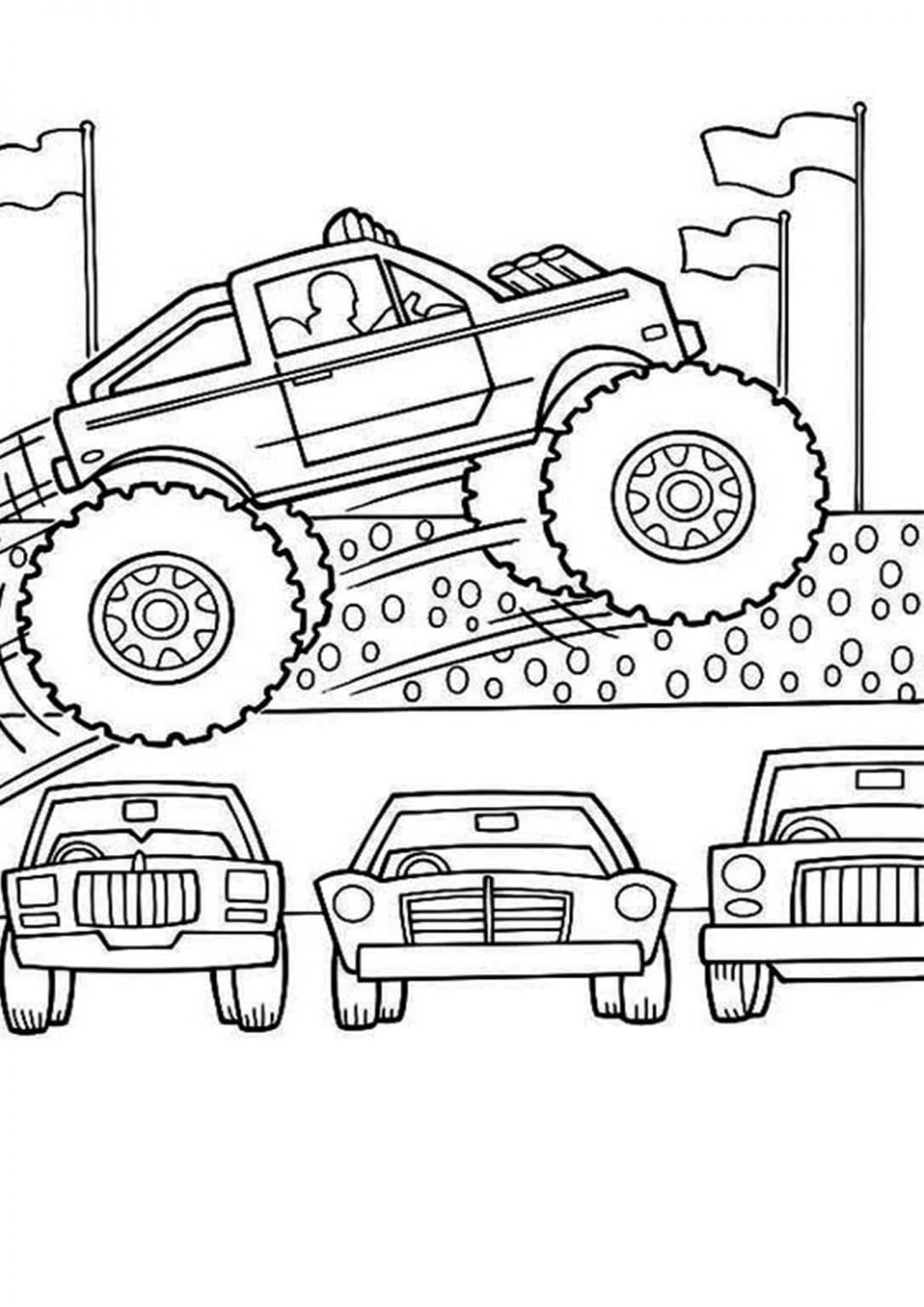 Free Easy To Print Monster Truck Coloring Pages Monster Truck Coloring Pages Truck Coloring Pages Monster Coloring Pages [ 1536 x 1086 Pixel ]